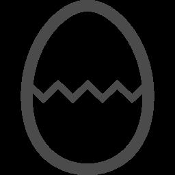ヒビの入った玉子イラスト アイコン素材ダウンロードサイト Icooon Mono 商用利用可能なアイコン素材が無料 フリー ダウンロードできるサイト