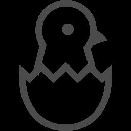 卵からかえったひよこのアイコン アイコン素材ダウンロードサイト Icooon Mono 商用利用可能なアイコン素材が無料 フリー ダウンロードできるサイト