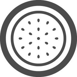 スイカの半分イラスト アイコン素材ダウンロードサイト Icooon Mono 商用利用可能なアイコン素材が無料 フリー ダウンロードできるサイト