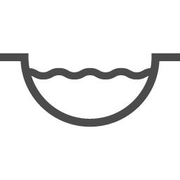 池もしくは川の断面図イラスト アイコン素材ダウンロードサイト Icooon Mono 商用利用可能なアイコン素材が無料 フリー ダウンロードできるサイト