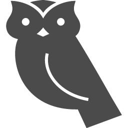 フクロウの無料イラスト2 アイコン素材ダウンロードサイト Icooon Mono 商用利用可能なアイコン素材 が無料 フリー ダウンロードできるサイト