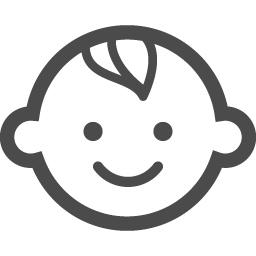 笑顔の赤ちゃんイラスト2 アイコン素材ダウンロードサイト Icooon Mono 商用利用可能なアイコン素材が無料 フリー ダウンロードできるサイト