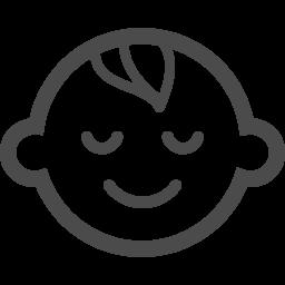 寝ているあかちゃんのピクト アイコン素材ダウンロードサイト Icooon Mono 商用利用可能なアイコン素材が無料 フリー ダウンロードできるサイト