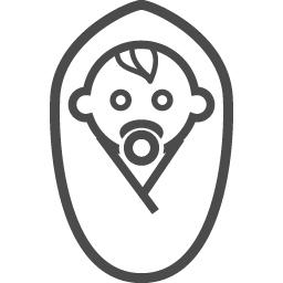 赤ちゃんのフリー素材27 アイコン素材ダウンロードサイト Icooon Mono 商用利用可能なアイコン素材が無料 フリー ダウンロードできるサイト
