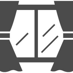 カーテンと窓のイラスト アイコン素材ダウンロードサイト Icooon Mono 商用利用可能なアイコン素材が無料 フリー ダウンロードできるサイト