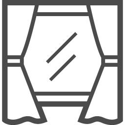 カーテンと窓のピクトグラム アイコン素材ダウンロードサイト Icooon Mono 商用利用可能なアイコン素材が無料 フリー ダウンロードできるサイト
