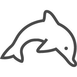 イルカのイラスト素材2 アイコン素材ダウンロードサイト Icooon Mono 商用利用可能なアイコン素材が無料 フリー ダウンロードできる サイト