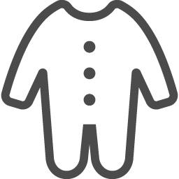 ベビー服のイラスト素材 アイコン素材ダウンロードサイト Icooon Mono 商用利用可能なアイコン素材が無料 フリー ダウンロードできるサイト