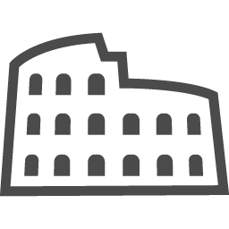 コロッセオのイラスト素材4 アイコン素材ダウンロードサイト Icooon Mono 商用利用可能なアイコン素材が無料 フリー ダウンロードできるサイト