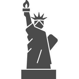 自由の女神のアイコン1 アイコン素材ダウンロードサイト Icooon Mono 商用利用可能なアイコン素材が無料 フリー ダウンロードできるサイト