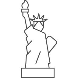 自由の女神のフリーイラスト アイコン素材ダウンロードサイト Icooon Mono 商用利用可能なアイコン素材が無料 フリー ダウンロードできるサイト