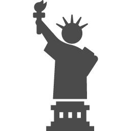 自由の女神のピクトグラム アイコン素材ダウンロードサイト Icooon Mono 商用利用可能なアイコン素材が無料 フリー ダウンロードできるサイト