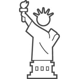 自由の女神の無料アイコン アイコン素材ダウンロードサイト Icooon Mono 商用利用可能なアイコン素材が無料 フリー ダウンロードできるサイト