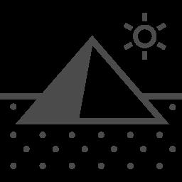 ピラミッドのアイコン3 アイコン素材ダウンロードサイト Icooon Mono 商用利用可能なアイコン素材が無料 フリー ダウンロードできるサイト