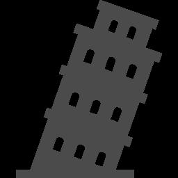 ピサの斜塔1 アイコン素材ダウンロードサイト Icooon Mono 商用利用可能なアイコン素材が無料 フリー ダウンロードできるサイト