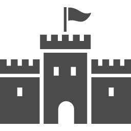 お城のアイコン1 アイコン素材ダウンロードサイト Icooon Mono 商用利用可能なアイコン素材が無料 フリー ダウンロードできるサイト