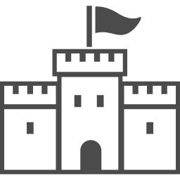 お城のイラスト2 アイコン素材ダウンロードサイト Icooon Mono 商用利用可能なアイコン素材が無料 フリー ダウンロードできるサイト
