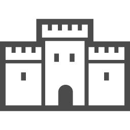 お城のアイコン素材3 アイコン素材ダウンロードサイト Icooon Mono 商用利用可能なアイコン素材 が無料 フリー ダウンロードできるサイト