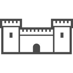 お城のアイコン5 アイコン素材ダウンロードサイト Icooon Mono 商用利用可能なアイコン素材が無料 フリー ダウンロードできるサイト