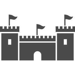 お城の無料アイコン6 アイコン素材ダウンロードサイト Icooon Mono 商用利用可能なアイコン素材が無料 フリー ダウンロードできるサイト