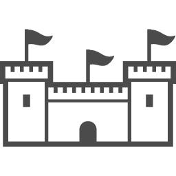 お城のアイコン7 アイコン素材ダウンロードサイト Icooon Mono 商用利用可能なアイコン素材が無料 フリー ダウンロードできるサイト