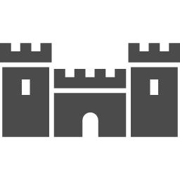 お城のピクトグラム8 アイコン素材ダウンロードサイト Icooon Mono 商用利用可能なアイコン素材が無料 フリー ダウンロードできるサイト