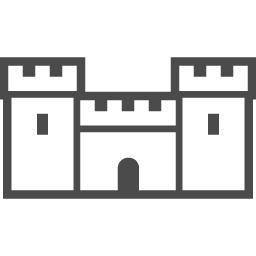 お城のイラスト素材9 アイコン素材ダウンロードサイト Icooon Mono 商用利用可能なアイコン素材が無料 フリー ダウンロードできるサイト