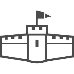 お城のアイコン11 アイコン素材ダウンロードサイト Icooon Mono 商用利用可能なアイコン素材が無料 フリー ダウンロードできるサイト