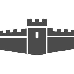 お城の素材12 アイコン素材ダウンロードサイト Icooon Mono 商用利用可能なアイコン素材が無料 フリー ダウンロードできるサイト