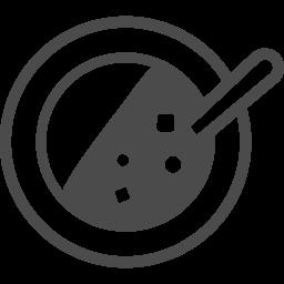 カレーライスのフリーアイコン1 アイコン素材ダウンロードサイト Icooon Mono 商用利用可能なアイコン素材が無料 フリー ダウンロードできるサイト