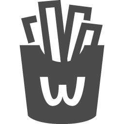 フライドポテトの無料アイコン1 アイコン素材ダウンロードサイト Icooon Mono 商用利用可能なアイコン 素材が無料 フリー ダウンロードできるサイト