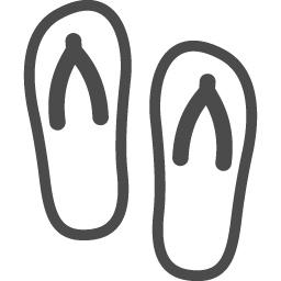 ビーチサンダル2 アイコン素材ダウンロードサイト Icooon Mono 商用利用可能なアイコン素材が無料 フリー ダウンロードできるサイト