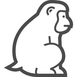 猿アイコン1 アイコン素材ダウンロードサイト Icooon Mono 商用利用可能なアイコン素材が無料 フリー ダウンロードできるサイト