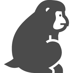 猿アイコン2 アイコン素材ダウンロードサイト Icooon Mono 商用利用可能なアイコン素材が無料 フリー ダウンロードできるサイト