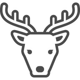 鹿のイラスト素材1 アイコン素材ダウンロードサイト Icooon Mono 商用利用可能なアイコン素材が無料 フリー ダウンロードできるサイト