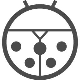 てんとう虫アイコン1 アイコン素材ダウンロードサイト Icooon Mono 商用利用可能なアイコン素材が無料 フリー ダウンロードできるサイト