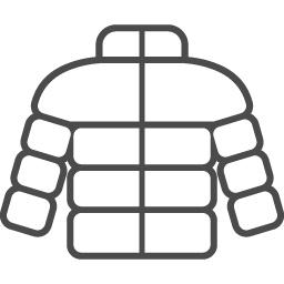 ダウンジャケットアイコン2 アイコン素材ダウンロードサイト Icooon Mono 商用利用可能なアイコン 素材が無料 フリー ダウンロードできるサイト