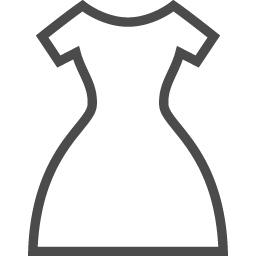 ドレスの無料アイコン2 アイコン素材ダウンロードサイト Icooon Mono 商用利用可能なアイコン素材 が無料 フリー ダウンロードできるサイト