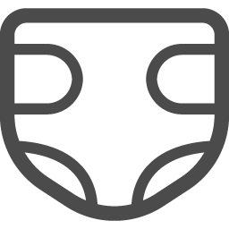 おむつアイコン1 アイコン素材ダウンロードサイト Icooon Mono 商用利用可能なアイコン素材が無料 フリー ダウンロードできるサイト