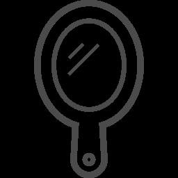 手鏡アイコン3 アイコン素材ダウンロードサイト Icooon Mono 商用利用可能なアイコン素材が無料 フリー ダウンロードできるサイト