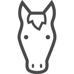馬アイコン3 アイコン素材ダウンロードサイト Icooon Mono 商用利用可能なアイコン素材が無料 フリー ダウンロードできるサイト