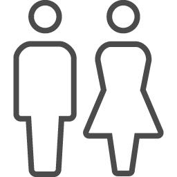 お手洗いのマーク2 アイコン素材ダウンロードサイト Icooon Mono 商用利用可能なアイコン素材が無料 フリー ダウンロードできるサイト