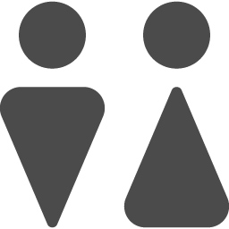 お手洗いのマーク4 アイコン素材ダウンロードサイト Icooon Mono 商用利用可能なアイコン素材が無料 フリー ダウンロードできるサイト