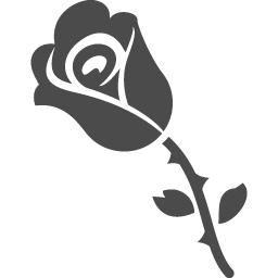 バラのフリーイラスト4 アイコン素材ダウンロードサイト Icooon Mono 商用利用可能なアイコン素材が無料 フリー ダウンロードできるサイト