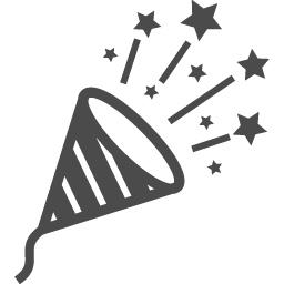クラッカーのフリーイラスト2 アイコン素材ダウンロードサイト Icooon Mono 商用利用可能なアイコン素材が無料 フリー ダウンロードできるサイト