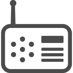ラジオのフリーイラスト5 アイコン素材ダウンロードサイト Icooon Mono 商用利用可能なアイコン素材 が無料 フリー ダウンロードできるサイト