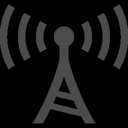 電波塔アイコン1 アイコン素材ダウンロードサイト Icooon Mono 商用利用可能なアイコン素材が無料 フリー ダウンロードできるサイト