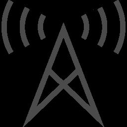 電波塔の無料アイコン3 アイコン素材ダウンロードサイト Icooon Mono 商用利用可能なアイコン素材が無料 フリー ダウンロードできるサイト