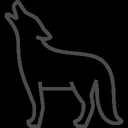 狼のフリー素材5 アイコン素材ダウンロードサイト Icooon Mono 商用利用可能なアイコン素材が無料 フリー ダウンロードできるサイト