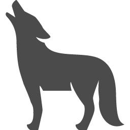 狼アイコン6 アイコン素材ダウンロードサイト Icooon Mono 商用利用可能なアイコン素材が無料 フリー ダウンロードできるサイト